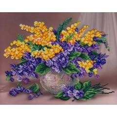 Набор для вышивания бисером  М.П.Cтудия БГ-283 Музыка цветов