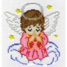 Набор для вышивания М.П.Cтудия БК-183 Ангелочек в розовом