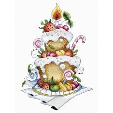 Набор для вышивания М.П.Cтудия М-048 Фруктовый десерт