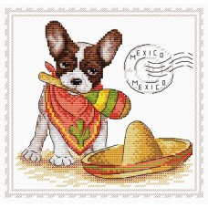 Набор для вышивания М.П.Cтудия М-069 Мой верный друг Мексика