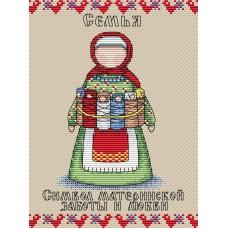 Набор для вышивания М.П.Cтудия М-113 Славянский оберег Семья