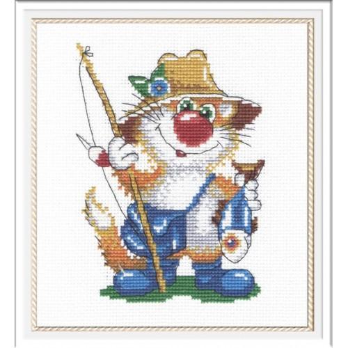 Набор для вышивки рыбак