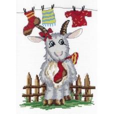 """Набор для вышивания М.П.Cтудия НВ-269 """"Коза с носком"""""""