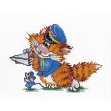 """Набор для вышивания М.П.Cтудия НВ-353 """"Рыжий кот. Пилот"""""""