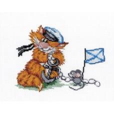 """Набор для вышивания М.П.Cтудия НВ-356 """"Рыжий кот. Морской волк"""""""
