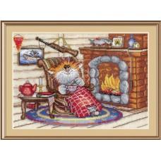"""Набор для вышивания М.П.Cтудия НВ-521 """"Уютный вечер"""""""
