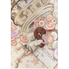 Набор для вышивания М.П.Cтудия НВ-564 Маленькая швея