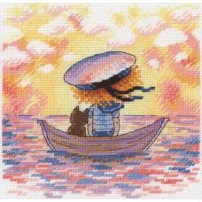 Набор для вышивания М.П.Cтудия НВ-616 Уплывая в закат