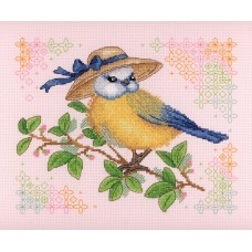 Набор для вышивания М.П.Cтудия НВ-646 Синичка-кокетка