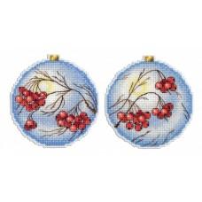 Набор для вышивания М.П.Cтудия Р-166 Шар Морозная рябина