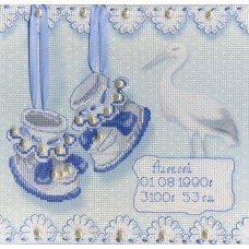 Набор для вышивания М.П.Cтудия РК-314 Метрика пинетки (М)