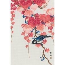 """Набор для вышивания Maia 5678000-01126 """"Птицы на красном плюще"""""""