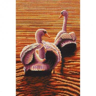 """Набор для вышивания Maia 5678000-01158 """"Лебеди в сумерках"""""""