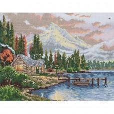 """Набор для вышивания Maia 5678000-01174 """"Убежище на берегу озера"""""""