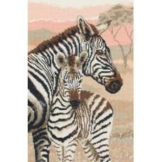 "Набор для вышивания Maia 5678000-01178 ""Семейство зебр"""
