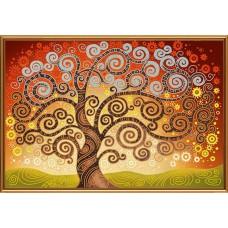 """Рисунки на ткани для вышивания бисером Новая Слобода БИС0282 """"Дерево счастья"""""""