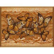"""Рисунки на ткани для вышивания бисером Новая Слобода БИС1272 """"Полет бабочек"""""""