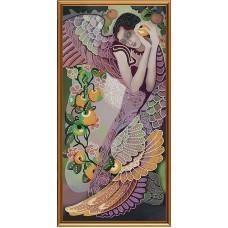 """Рисунки на ткани для вышивания бисером Новая Слобода БИС1274 """"Яблоневый сад"""""""