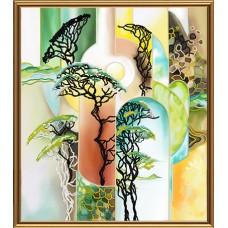 """Рисунки на ткани для вышивания бисером Новая Слобода БИС1285 """"Зеленый берег"""""""