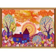 """Рисунки на ткани для вышивания бисером Новая Слобода БИС1295 """"Вестник счастья"""""""