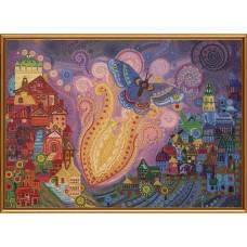 """Рисунки на ткани для вышивания бисером Новая Слобода БИС1297 """"Пламенный цветок"""""""