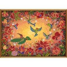 """Рисунки на ткани для вышивания бисером Новая Слобода БИС1298 """"Райские птицы"""""""