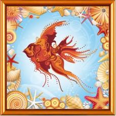 """Рисунки на ткани для вышивания бисером Новая Слобода БИС2248 """"Золотая рыбка"""""""