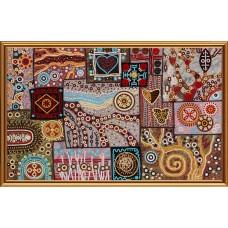 """Рисунки на ткани для вышивания бисером Новая Слобода БИС2299 """"Этно узоры"""""""
