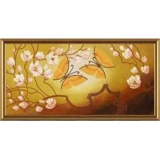 """Рисунки на ткани для вышивания бисером Новая Слобода БИС3015 """"Порхающие бабочки"""""""