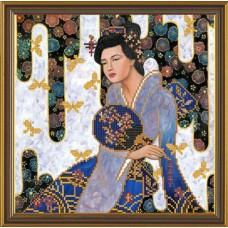 """Рисунки на ткани для вышивания бисером Новая Слобода БИС3025 """"Красавица из Киото"""""""