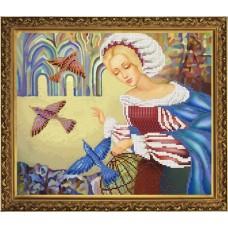 """Рисунки на ткани для вышивания бисером Новая Слобода БИС3173 """"Птица счастья"""""""