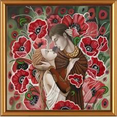 """Рисунки на ткани для вышивания бисером Новая Слобода БИС3194 """"Влюбленная пара"""""""