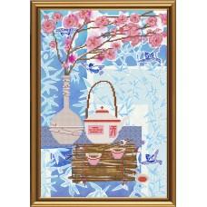 """Рисунки на ткани для вышивания бисером Новая Слобода БИС3197 """"Чайная церемония. Яньча"""""""