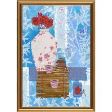 """Рисунки на ткани для вышивания бисером Новая Слобода БИС3198 """"Чайная церемония. Гунфу"""""""