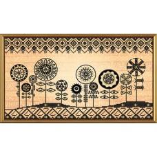 """Рисунки на ткани для вышивания бисером Новая Слобода БИС3266 """"Африканские мотивы"""""""
