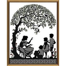 """Рисунки на ткани для вышивания бисером Новая Слобода БИС3270 """"Счастливая семья"""""""