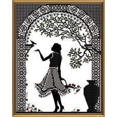 """Рисунки на ткани для вышивания бисером Новая Слобода БИС3273 """"Скоро любовь"""""""