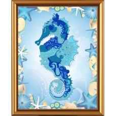 """Рисунки на ткани для вышивания бисером Новая Слобода БИС4247 """"Морской конек"""""""