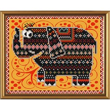 """Рисунки на ткани для вышивания бисером Новая Слобода БИС5028 """"Слоненок"""""""