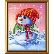 """Рисунки на ткани для вышивания бисером Новая Слобода БИС5251 """"Снеговичок"""""""