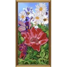 """Рисунки на ткани для вышивания бисером Новая Слобода БИС6227 """"Цветочный аромат"""""""