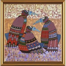 """Рисунки на ткани для вышивания бисером Новая Слобода БИСР1011 """"Сплетницы"""""""