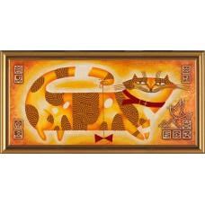 """Рисунки на ткани для вышивания бисером Новая Слобода БИСР6006 """"Мурлыка"""""""