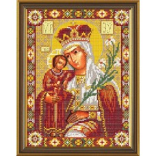 """Набор для вышивания бисером Новая Слобода Н9053 """"Богородица «Неувядаемый Цвет»"""""""