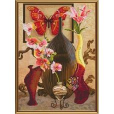"""Наборы для вышивания нитками и бисером Новая Слобода ННД2062 """"Прикосновение бабочки"""""""