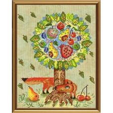 """Наборы для вышивания нитками и бисером Новая Слобода ННД3038 """"Сказочное дерево"""""""