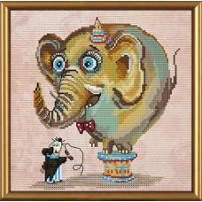 """Наборы для вышивания нитками и бисером Новая Слобода ННД5550 """"Цирковой слон"""""""