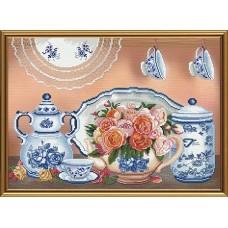 """Наборы для вышивания нитками и бисером Новая Слобода ННК3293 """"Летний чай"""""""