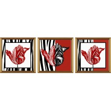 """Рисунки на ткани для вышивания бисером Новая Слобода В32003 """"Тюльпаны"""""""