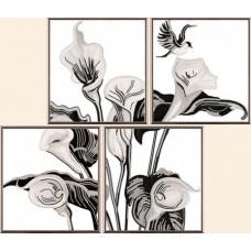 """Рисунки на ткани для вышивания бисером Новая Слобода В42001 """"Каллы"""""""